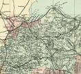 1891 Antique Map YORKSHIRE NW Houses FARMS Railways STATIONS Inns VERY DETAILED